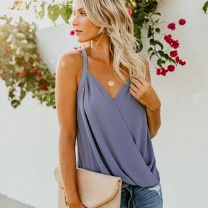 Summer date night tank with flattering bottom